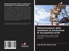 Copertina di Determinazione delle condizioni di produzione di mucopolisaccaridi