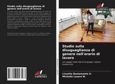 Capa do livro de Studio sulla disuguaglianza di genere nell'orario di lavoro
