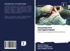 Buchcover von акушерская гистерэктомия