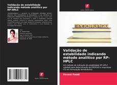 Portada del libro de Validação de estabilidade indicando método analítico por RP-HPLC
