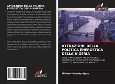 Copertina di ATTUAZIONE DELLA POLITICA ENERGETICA DELLA NIGERIA