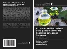 Bookcover of Actividad antibacteriana de la papaya contra las bacterias patógenas humanas