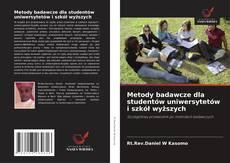 Copertina di Metody badawcze dla studentów uniwersytetów i szkół wyższych