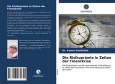 Capa do livro de Die Risikoprämie in Zeiten der Finanzkrise