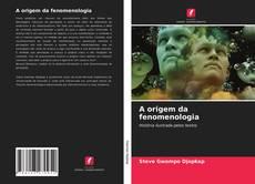 Portada del libro de A origem da fenomenologia