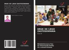 Portada del libro de DRUK 3D I JEGO ZASTOSOWANIA