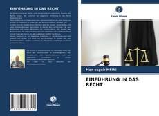 Couverture de EINFÜHRUNG IN DAS RECHT