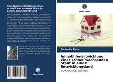 Capa do livro de Immobilienentwicklung einer schnell wachsenden Stadt in einem Entwicklungsland