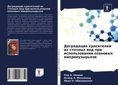 Copertina di Деградация красителей из сточных вод при использовании озоновых микропузырьков