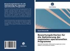 Portada del libro de Bewertungskriterien für die Optimierung der regionalen operationellen Programme