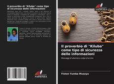 """Portada del libro de Il proverbio di """"Kiluba"""" come tipo di sicurezza delle informazioni"""