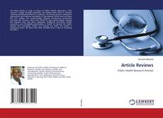 Bookcover of Article Reviews