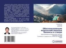 Buchcover von Обосновывающие водохозяйственные балансы в створе