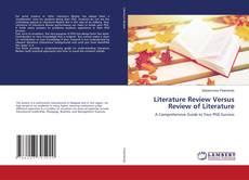 Copertina di Literature Review Versus Review of Literature