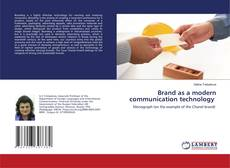 Bookcover of Brand as a modern communication technology