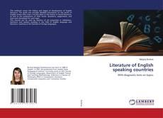 Portada del libro de Literature of English speaking countries
