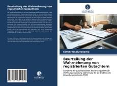Bookcover of Beurteilung der Wahrnehmung von registrierten Gutachtern