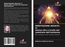 Bookcover of MEDITAZIONE ADVAITA II: Anima=Dio a livello del substrato dell'esistenza