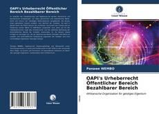 OAPI's Urheberrecht Öffentlicher Bereich Bezahlbarer Bereich kitap kapağı
