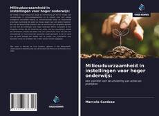 Bookcover of Milieuduurzaamheid in instellingen voor hoger onderwijs: