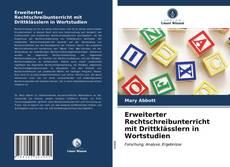 Bookcover of Erweiterter Rechtschreibunterricht mit Drittklässlern in Wortstudien