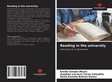 Bookcover of Reading in the university