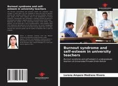 Couverture de Burnout syndrome and self-esteem in university teachers