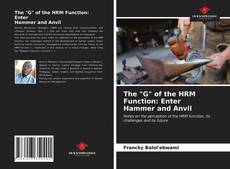 """Buchcover von The """"G"""" of the HRM Function: Enter Hammer and Anvil"""