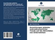 Borítókép a  Auswirkungen globaler makroökonomischer Trends auf die Aktivitäten von Unternehmen - hoz