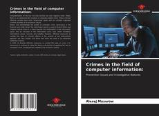 Bookcover of Crimes in the field of computer information: