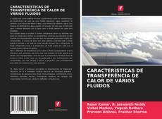 Portada del libro de CARACTERÍSTICAS DE TRANSFERÊNCIA DE CALOR DE VÁRIOS FLUIDOS