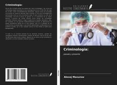 Portada del libro de Criminología: