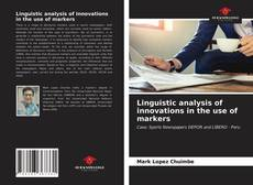 Capa do livro de Linguistic analysis of innovations in the use of markers