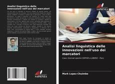Buchcover von Analisi linguistica delle innovazioni nell'uso dei marcatori