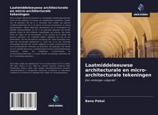 Bookcover of Laatmiddeleeuwse architecturale en micro-architecturale tekeningen