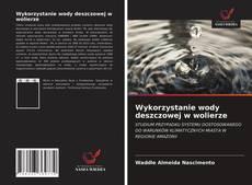 Buchcover von Wykorzystanie wody deszczowej w wolierze