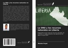 Capa do livro de La ONU y los recursos naturales en Liberia