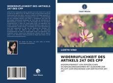 Borítókép a  WIDERRUFLICHKEIT DES ARTIKELS 247 DES CPP - hoz