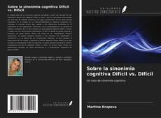 Buchcover von Sobre la sinonimia cognitiva Difícil vs. Difícil
