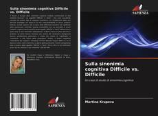 Buchcover von Sulla sinonimia cognitiva Difficile vs. Difficile