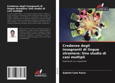 Bookcover of Credenze degli insegnanti di lingue straniere: Uno studio di casi multipli