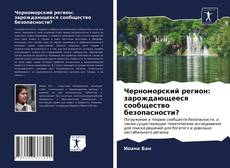 Capa do livro de Черноморский регион: зарождающееся сообщество безопасности?