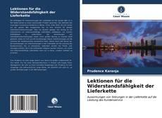 Buchcover von Lektionen für die Widerstandsfähigkeit der Lieferkette