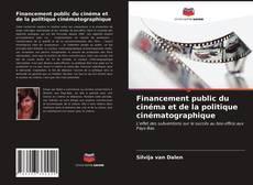 Capa do livro de Financement public du cinéma et de la politique cinématographique