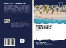 АФРИКАНСКАЯ МЕТАФИЗИКА的封面