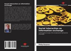 Buchcover von Social interaction as information exchange