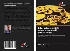 Обложка Interazione sociale come scambio di informazioni