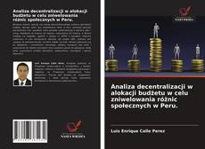 Обложка Analiza decentralizacji w alokacji budżetu w celu zniwelowania różnic społecznych w Peru.