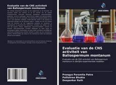 Bookcover of Evaluatie van de CNS activiteit van Baliospermum montanum