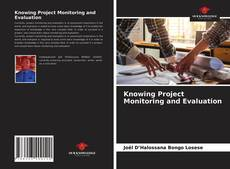 Capa do livro de Knowing Project Monitoring and Evaluation